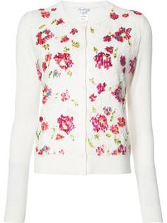 embroidered flowers cardigan  Oscar de la Renta