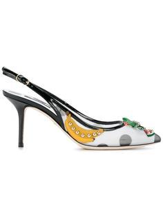декорированные туфли с узором в горох  Dolce & Gabbana