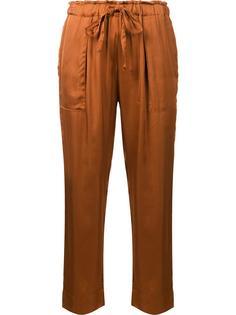 укороченные брюки на стяжке Raquel Allegra