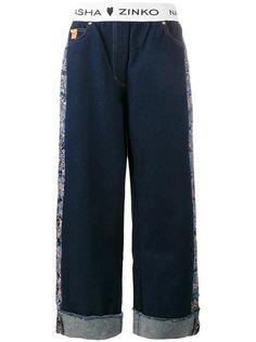 жаккардовые широкие джинсы  Natasha Zinko
