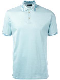 рубашка-поло с принтом на воротнике Etro