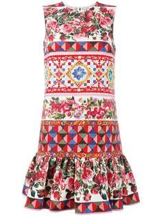 мини-платье с принтом Carretto Dolce & Gabbana