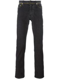 узкие джинсы с контрастной строчкой Dior Homme