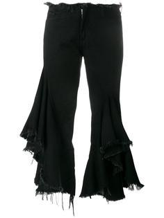 джинсы с оборками Marquesalmeida