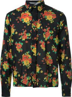 patchwork floral print shirt  McQ Alexander McQueen