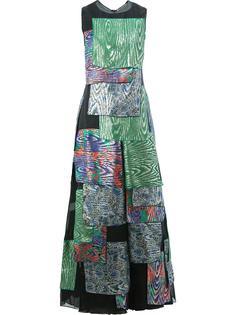 платье с комбинированным принтом Maison Rabih Kayrouz