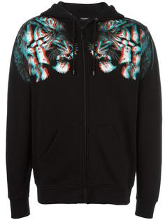 tiger print zipped hoodie Marcelo Burlon County Of Milan