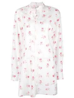 roses print asymmetric shirt Loewe