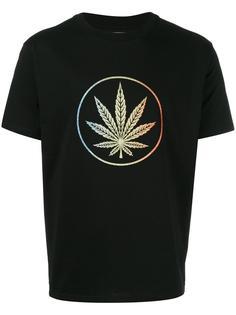leaf print T-shirt Palm Angels