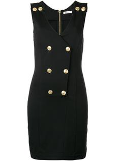 double breasted V-neck dress Pierre Balmain