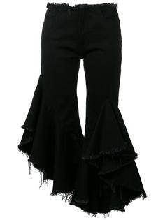 ruffle cropped jeans Marquesalmeida