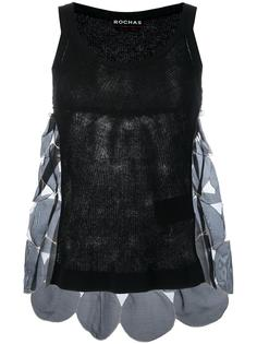 patchwork knitted tank top Rochas