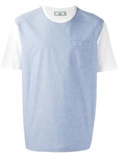 футболка с контрастной панелью Ami Alexandre Mattiussi