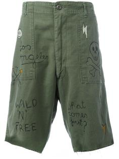 graffiti cargo shorts  Htc Hollywood Trading Company