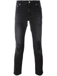 джинсы с вышивкой на кармане Versus