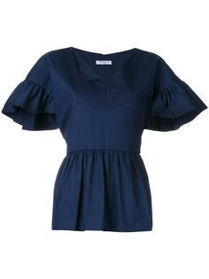 V-neck ruffled blouse Vivetta