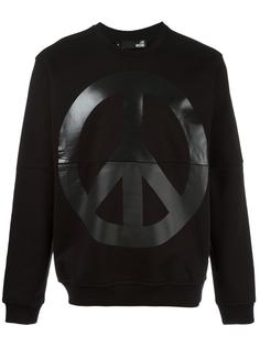 peace print sweatshirt Love Moschino