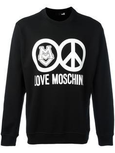 logo print sweatshirt  Love Moschino