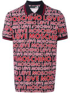 футболка-поло с принтом логотипа Love Moschino
