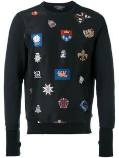 badge embroidered sweatshirt Alexander McQueen
