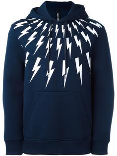 lightning print hoodie Neil Barrett