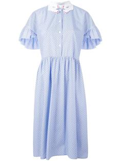 расклешенное платье в горошек Vivetta