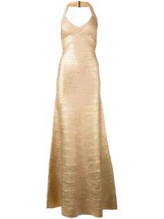 вечернее платье с тиснением Hervé Léger