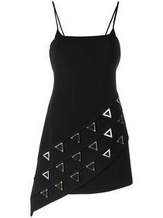 приталенное платье с заклепками David Koma
