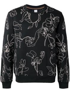 floral embroidery sweatshirt Paul Smith