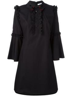 расклешенное платье с рюшами Vivetta