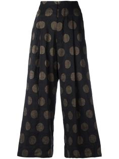 dotted cropped trousers  Uma Wang