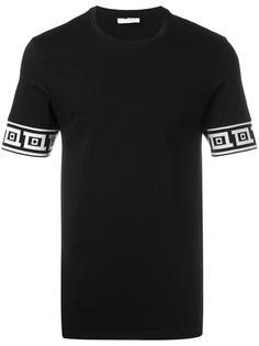 футболка с принтом на рукавах Versace Collection