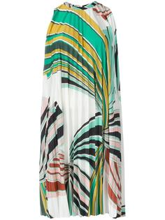 geometric print pleated dress Emilio Pucci