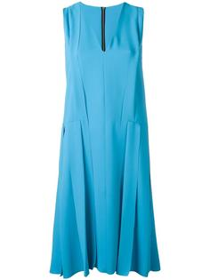 panelled V-neck dress Cédric Charlier