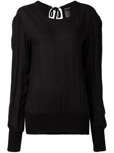 блузка с открытой спиной Ann Demeulemeester