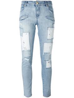 рваные джинсы кроя скинни Pierre Balmain