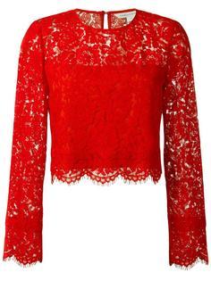 кружевная блузка с цветочным узором Diane Von Furstenberg