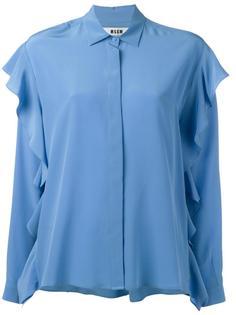 рубашка с рюшами MSGM