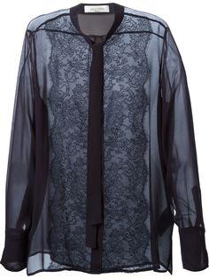 рубашка с кружевной отделкой Valentino