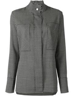concealed fastening checked shirt Saks Potts