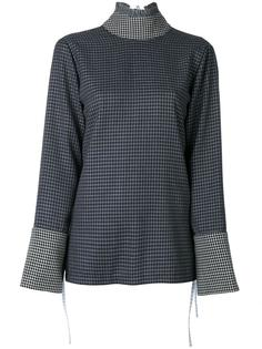 flared sleeves checked blouse Saks Potts