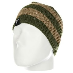 Шапка Fallen Buffalo Striped Knits Beanie Tan/Olive