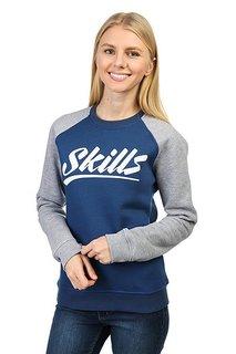 Толстовка классическая женская Skills College Blue/Gray