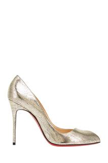 Туфли из металлизированной кожи Corneille 100 Christian Louboutin