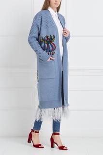 Шерстяной кардиган Flower 7КА