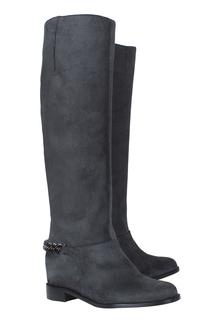 Замшевые сапоги Cate Boot Flat Crosta/Chain Christian Louboutin