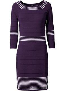 Трикотажное платье (темно-синий/белый) Bonprix