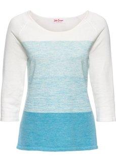 Пуловер с рукавом 3/4 (синий джинсовый меланж) Bonprix
