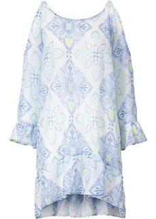 Пляжная туника (нежно-голубой с рисунком) Bonprix