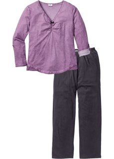 Пижама (розовый/серый) Bonprix